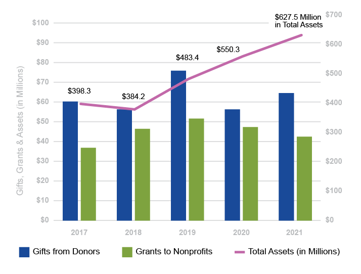 Assets Gifts Grants Chart